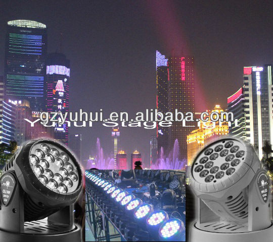 18pcs 3W Popular Dj Stage Moving Head Led Lights Clubs