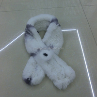 Real fur scarf Knitted Rex rabbit scarf