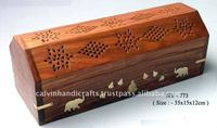 coffin box incense stick burner