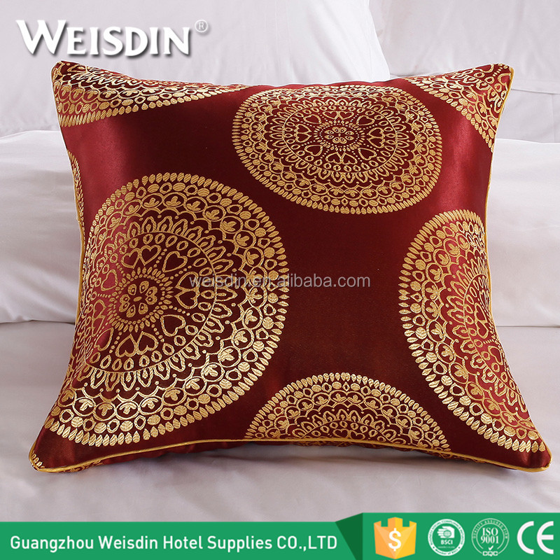Cheap custom made home hotel polyester fabric throw pillow decorative sofa cushion