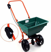 55 lbs 25 Lts garden scattering cart, lawn seed /Salt spreader, manual fertilizer seeding