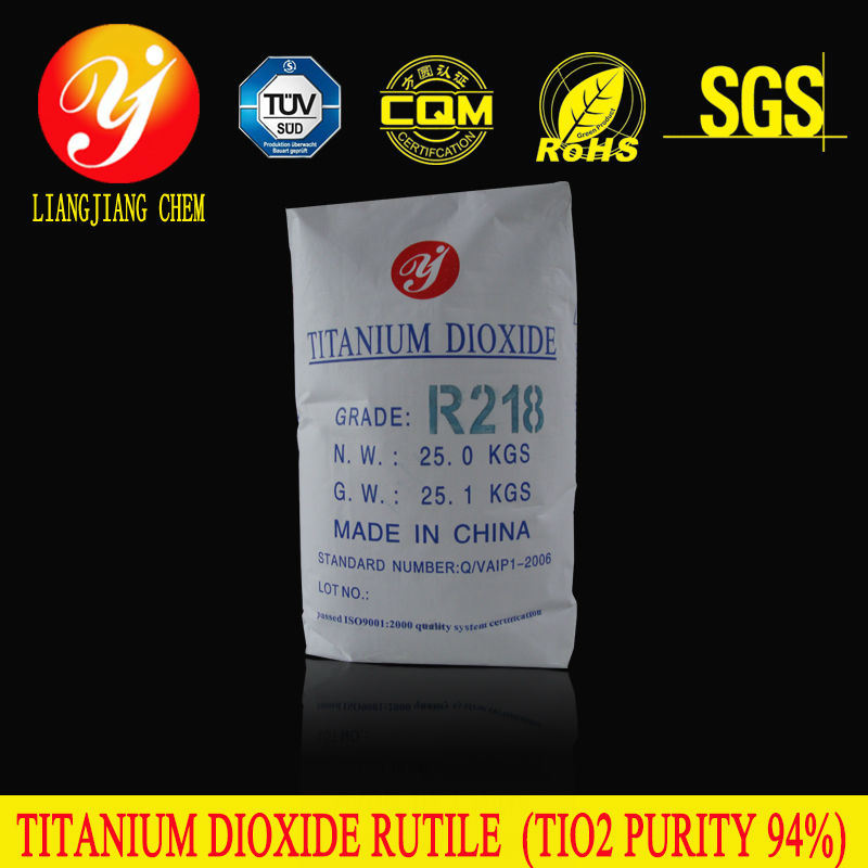 Liangjiang chem new product rutile titanium dioxide R218 with high purity, sulfuric acid product ,titanium dioxide water soluble