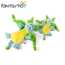 Soft funny dragon pet plush dog chewing toy