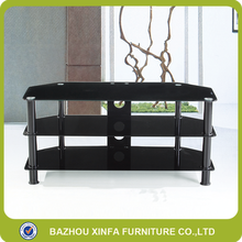 Cheap sale elegant glass top stainless steel furniture of LCD TV stand