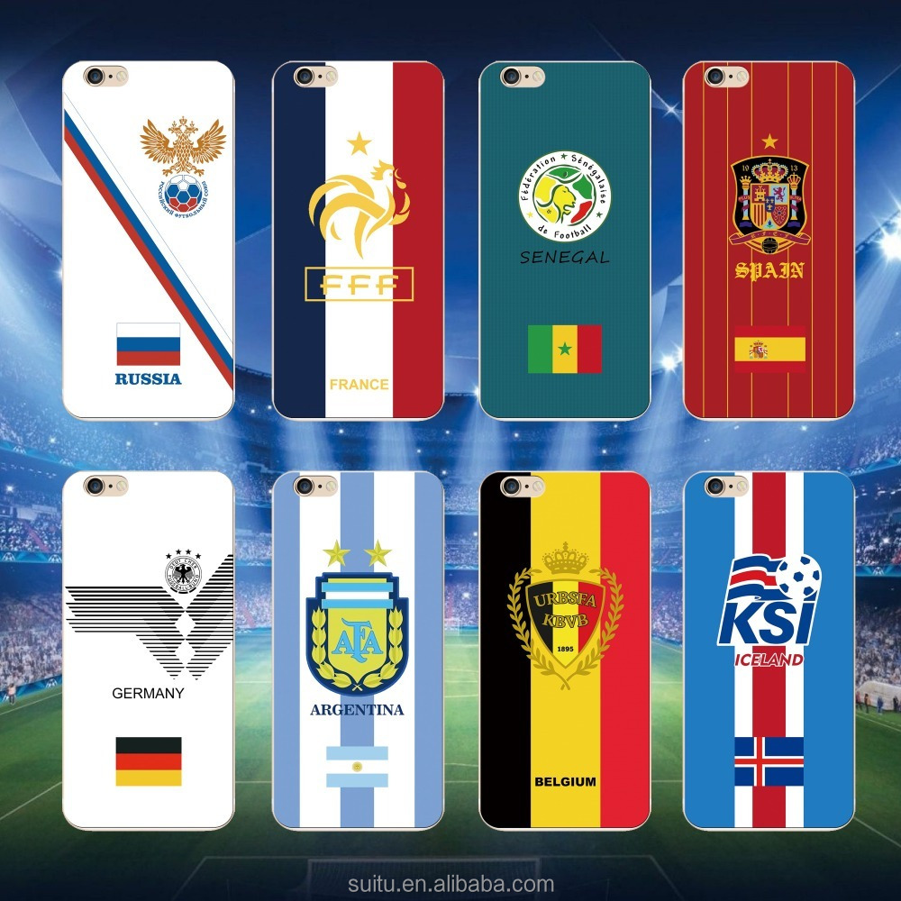 hot selling 2018 football soccer national flag team logo custom phone cases for 2018 Russia world cup for iPhone X