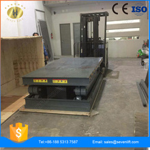 7LSJG Shandong SevenLift scissor structure hydraulic warehouse use manual freight lift elevator