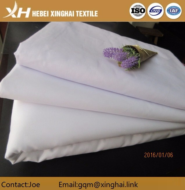 wholesale Egyptian Polyester Cotton bleached Shirt Fabric for school uniform fabric