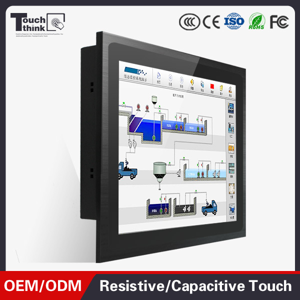 industrial touch screen panel pc 17 inch
