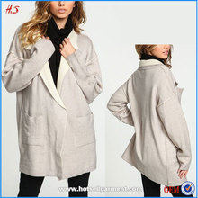 Chinese clothing manufacturer plush knit coat oversized women's coat with snap button