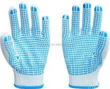 pvc diotted cotton glove/uv protect gloves