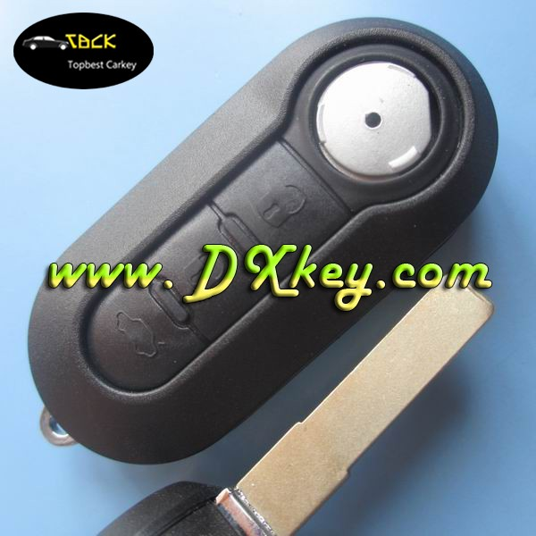 3 button modified flip remote key shell car key shell for fiat key