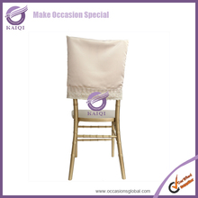 17922 Wedding Fancy satin half back chair covers for decoration party