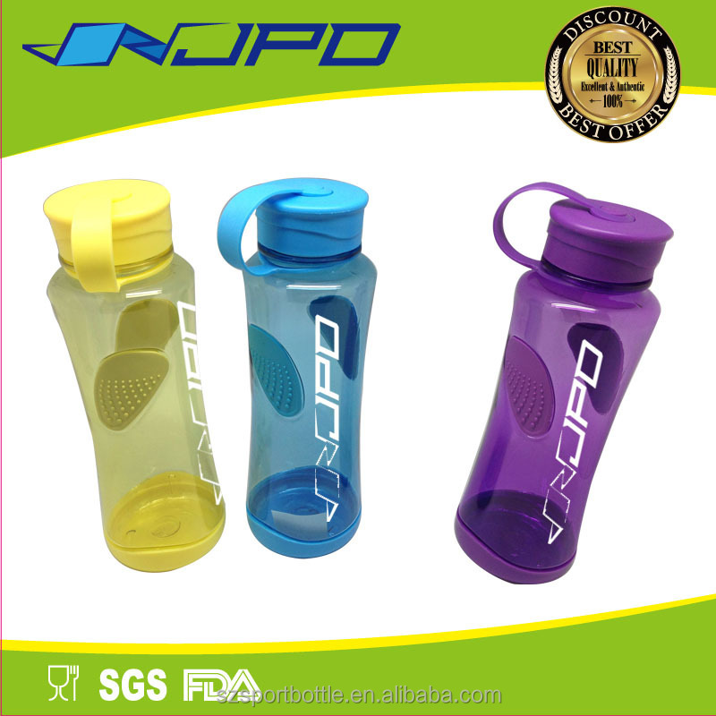 PETG/PCTG Foodgrade Material Customized Plastic Travel Bottle with Strap and Lid