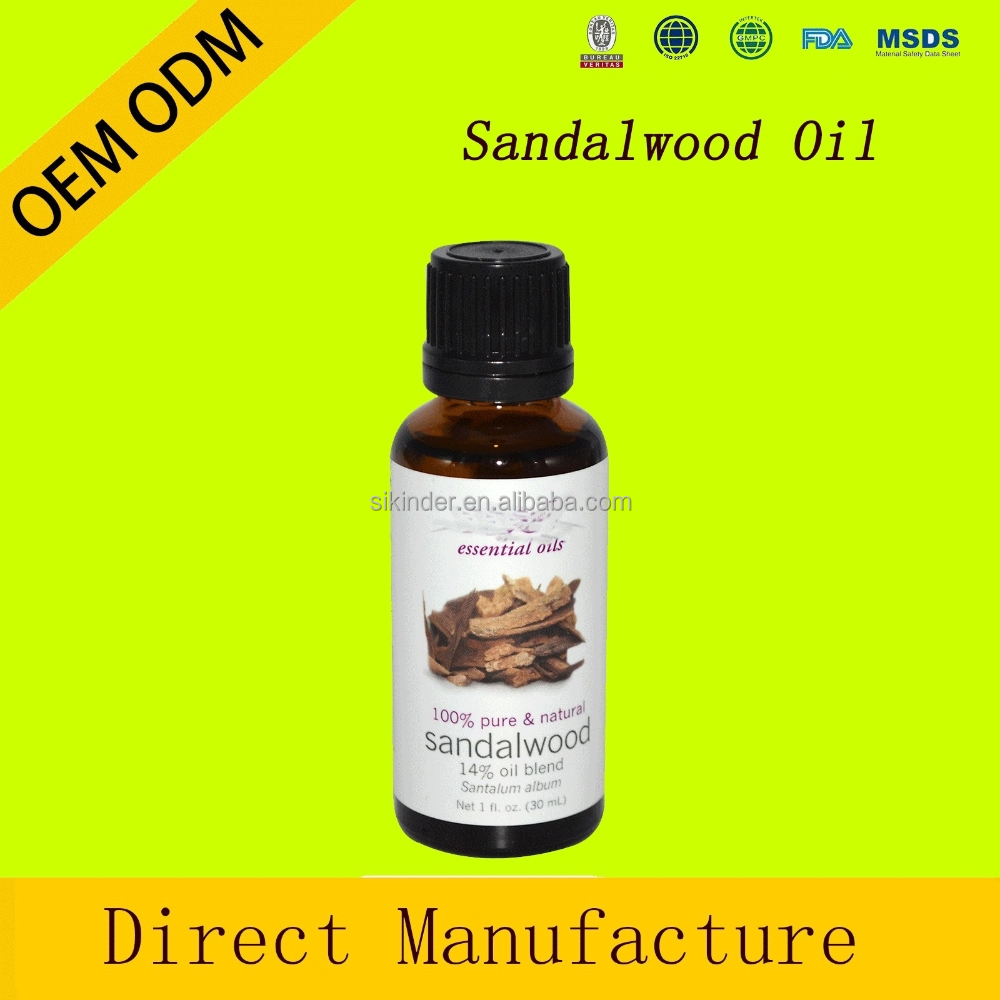 Sandalwood Oil India, <strong>100</strong>% Pure and Natural, OEM/ODM <strong>Provided</strong> Therapeutic Grade Essential Oil