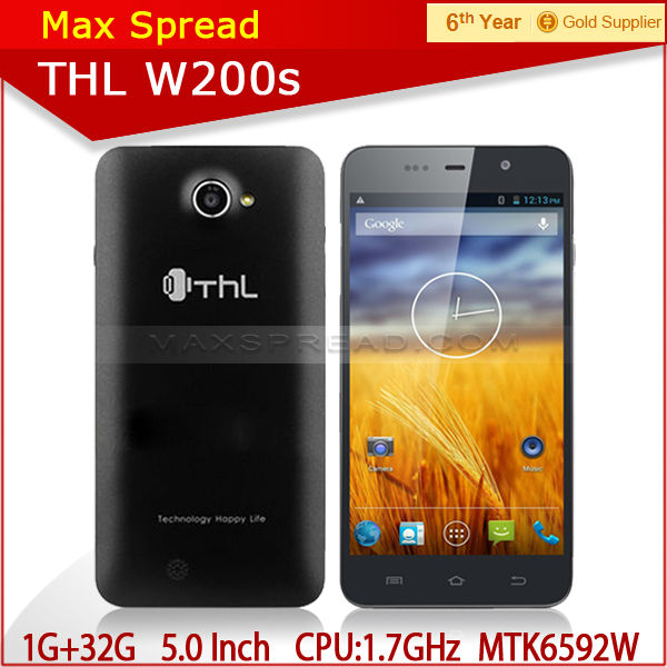 hot sell 5 Inch Smart mobile phone THL W200S with MTK6592 Octa Core brand smart cell phone