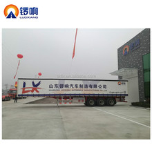China manufacturer GOLDEN 13m Tri Axle Side Curtain Dry Bulk Cargo Semi Trailer