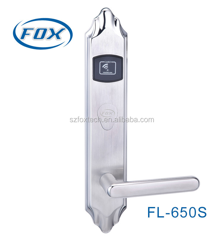 2015 high quality 304 stainless steel RFID hotel keyless door lock