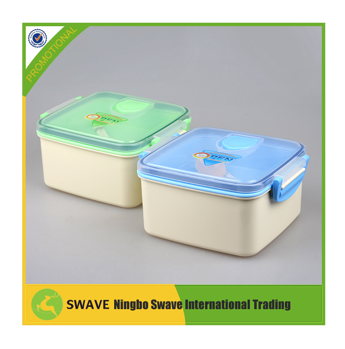 Two-layer inside square plastic food container,food storage container set