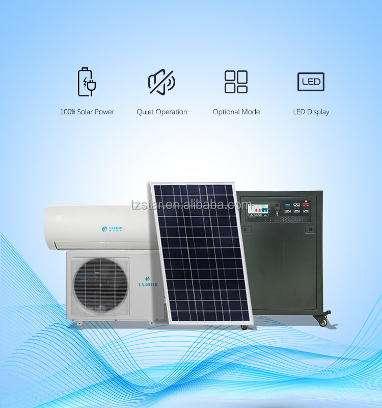 100% solar 48V DC solar air condition  in Pakistan