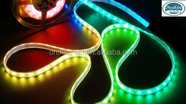 2015 Hot sale customized 2m DC5V SMD5050 RGB WS2812B CE RoHS approval LED Flexible Strip
