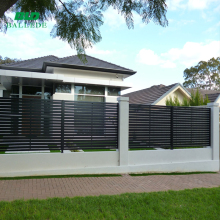 outdoor metal walls louver fence for villas