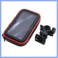 Smartphone Bike Handlebar Mount with Detachable Water Resistant Case for iPhone X 8 7 6 Plus