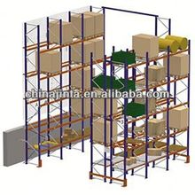 warehouse gravity roller pallet rack