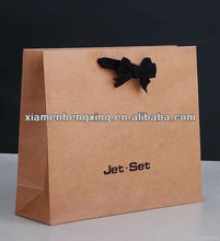 Small kraft wax brown paper bag