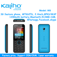 Made in china original brand cellphone unlocked mobile phone W8 3g feature phone