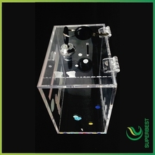 China wholesale clear acrylic display stand for donation box