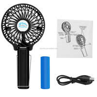 Dc 5V Lithium Battery Small Portable Fans Battery Operated With Battery