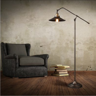 American country retro creative industries replica flos gun shape lounge floor lamp