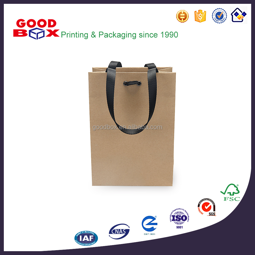 Customized high quality FSC Kraft paper shopping bag with handle