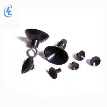 custom threaded neoprene rubber suction cup with screw