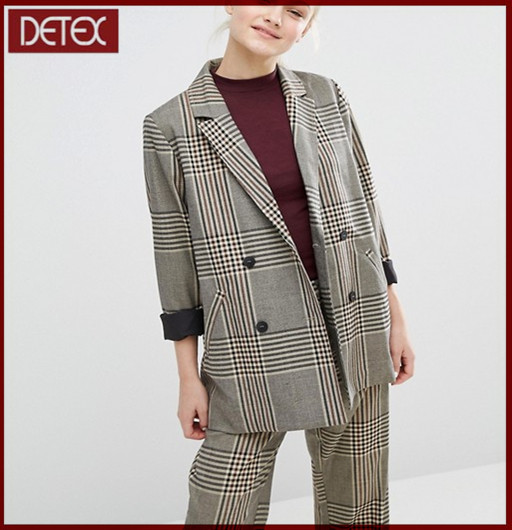 New Check Women Coat Ladies Suit Design
