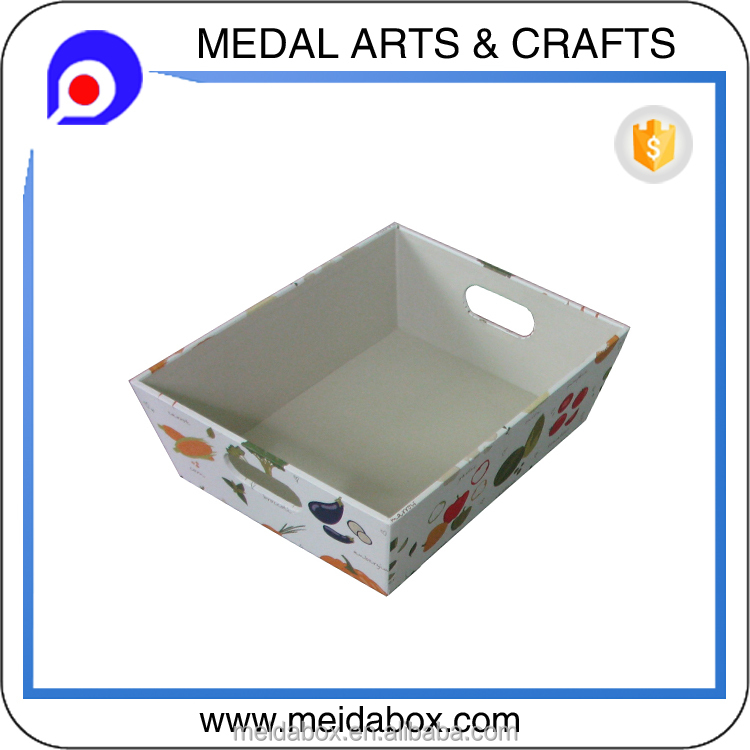 cardboard basket box with handles