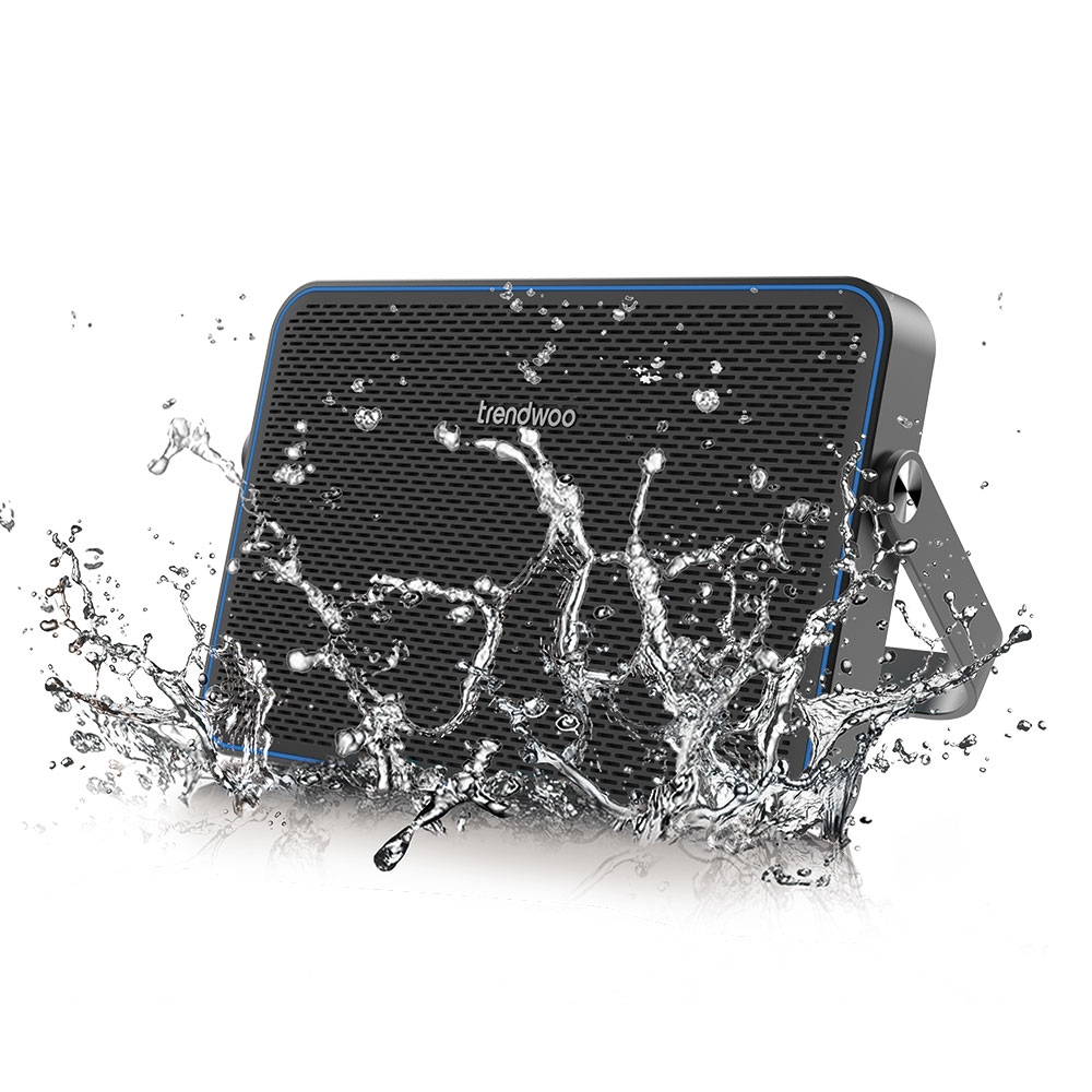Best portable mini Bluetooth speaker-Trendwoo ultra thin speaker with 26mm thickness and IPX4 water splashproof waterproof