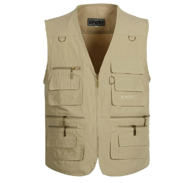 New Spring Summer Autumn Men Plus Size Hiking Outdoor Vest With Many Pockets Men's Casual Waistcoat Free Shipping A067