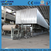 Liner back coated duplex grey board paper making machine for sale