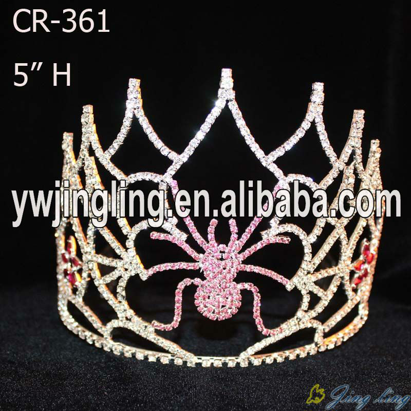 Custom Halloween Spider Pageant Tiara King Crown