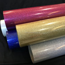 Hot koop glitter warmteoverdracht vinyl roll warmteoverdracht vinyl sheet glitter warmteoverdracht vinyl sheets pu voor fashion t-shirts