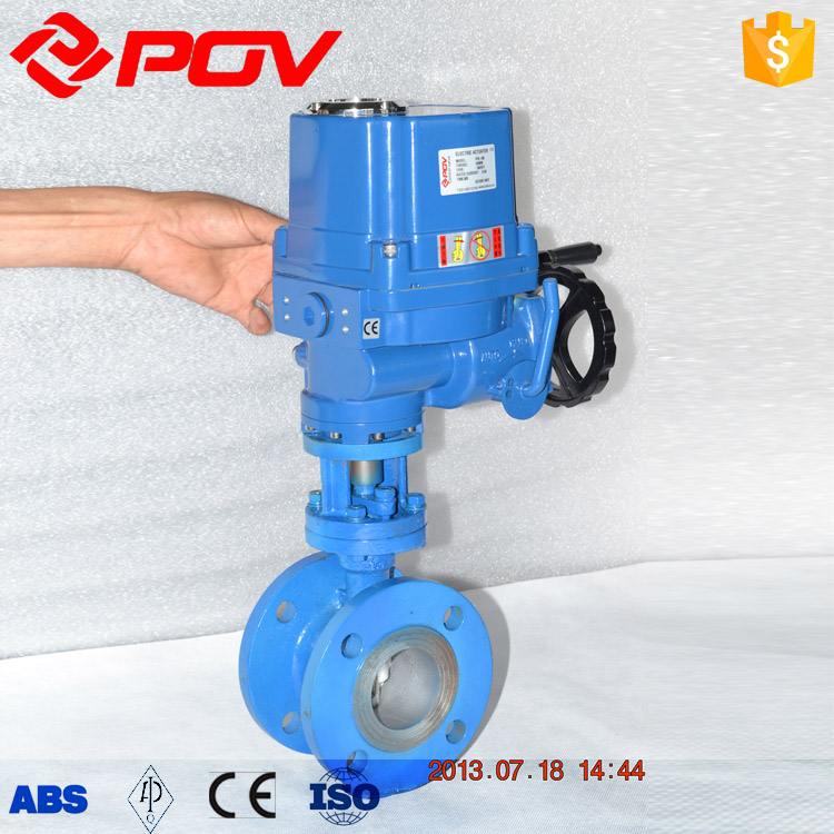 "4"" explosion proof flange hard seal electric butterfly valve"