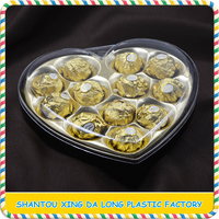Customize heart shape chocolate candy packing gift box