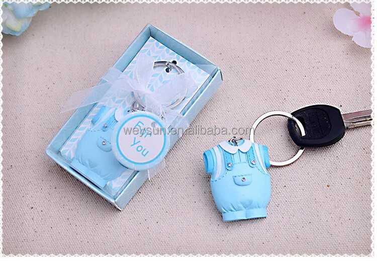 buy baby shower favors gifts baby clothes key chain baby clothes bule