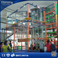 Kids rope course adventure equipments