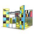 Detian Display offer opening island exhibition stands portable expo booth stand for exhibition system