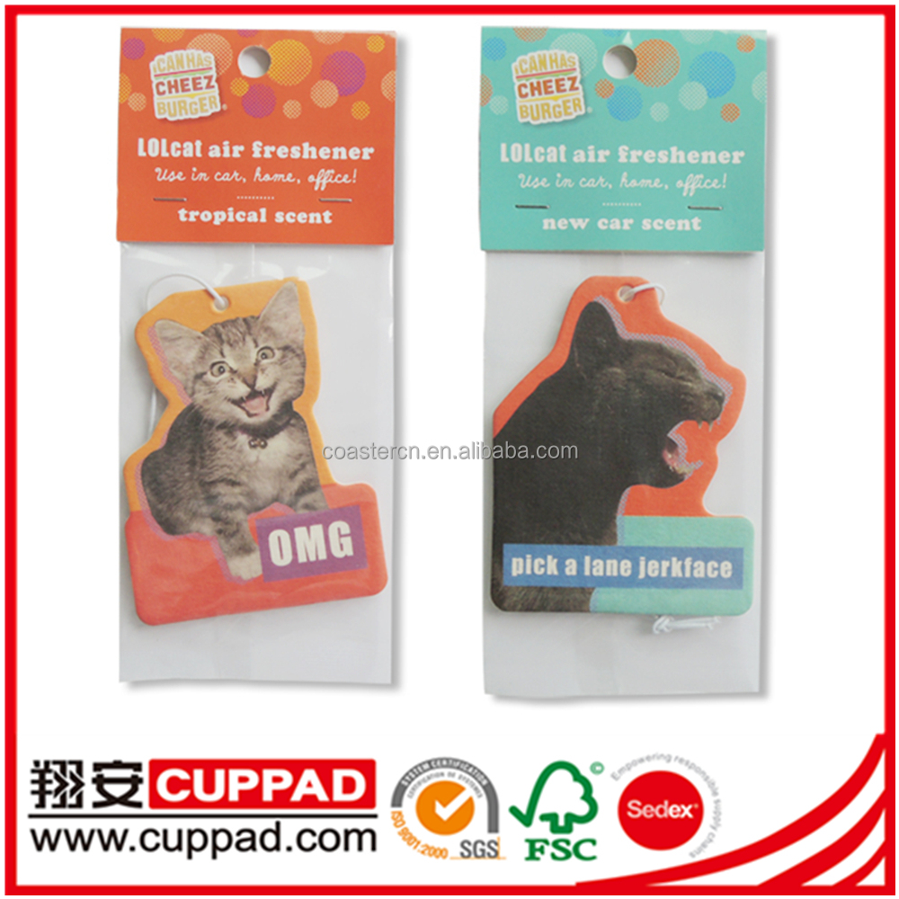 Paper Car freshener,Room air freshener with header card packing