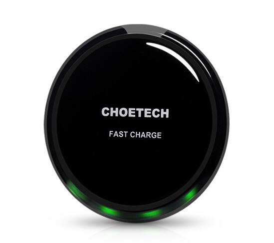 Choetech 10W Wireless phone charger for iphone for samsung galaxy S6 Fantasy Crystal UFO Shape Charging pad with LED light