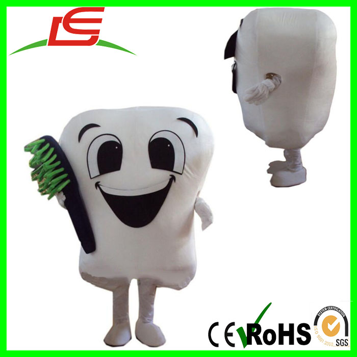 wholesale solid tooth cartoon reality custom clothing costumes adult mascot