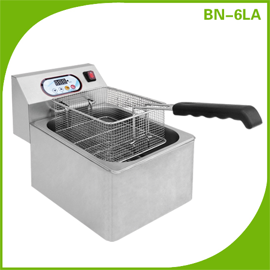BN-6LA CosBao stainless steel counter top automatic electric deep frier